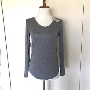 Loft long sleeve grey t-shirt XXSP NWT